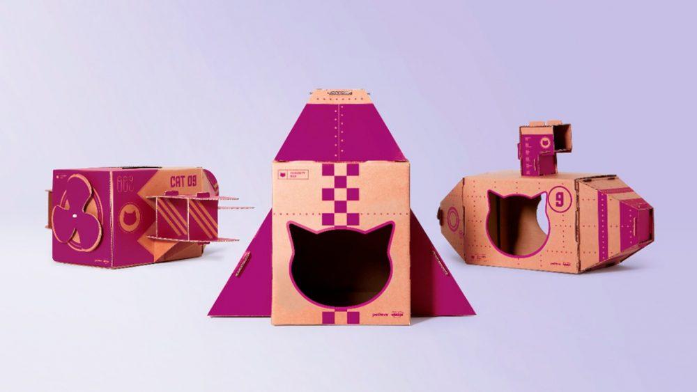 Embalagens de papel se transformam em brinquedos para gatos