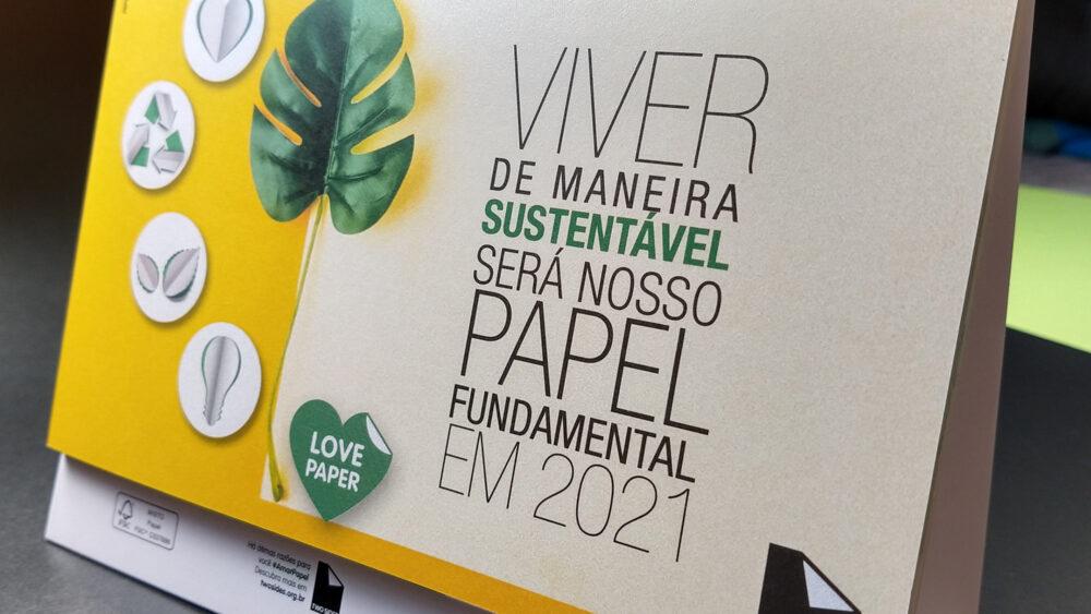 Ouro para o calendário Love Paper 2021